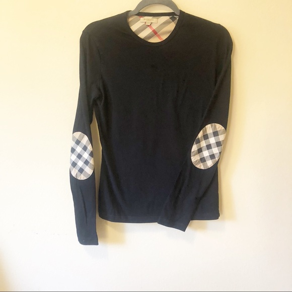 4627e9cea9 Burberry Tops | Long Sleeve Elbow Check T Shirt | Poshmark
